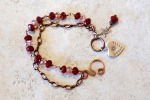 red crystal heartbracelet1